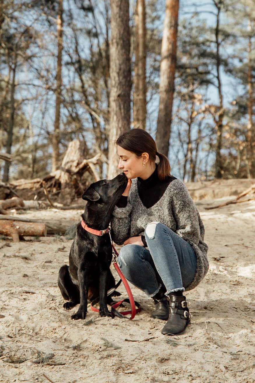 Franzi stärkt die Beziehung zu ihrem Hund Nala